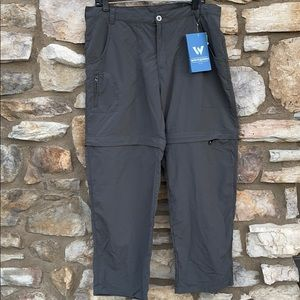 White Stag Sierra point convertible pants XL green
